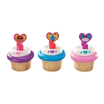 Doc McStuffins Doc and Friends Cupcake Rings- 12