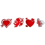 Cupid and Heart Rings