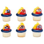 Justice League™ Brave & Bold Cupcake Rings- 12
