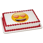 emoji® Heart Eyes PhotoCake® Edible Image®
