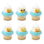 emoji® Mood Assortment Cupcake Rings- 12