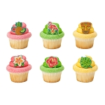 Polynesian Flair Cupcake Rings- 12