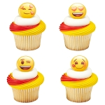 emoji® Heart Assortment Cupcake Rings- 12