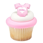 It's a Girl Cupcake Rings- each