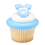 It's a Boy Cupcake Rings- each