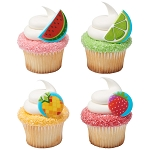 Fruit Assortment Cupcake Rings- 12