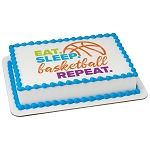 Eat, Sleep, Basketball, Repeat PhotoCake® Edible Image®