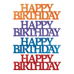 Happy Birthday Script Assortment Layon