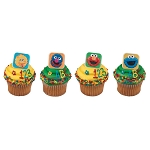 Sesame Street® Bright & Fun Cupcake Rings- 12