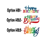 Pattern Happy Birthday Script Assortment Layon