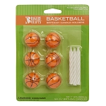 Basketball Candles 6 Pk.