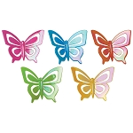 Iridescent Butterflies Layon