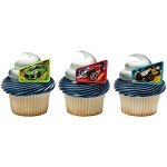 Hot Wheels™ Way 2 Fast Cupcake Rings- 12