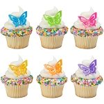 Butterfly Cupcake Rings- 12