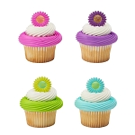 Bright Blossom Cupcake Rings- 12