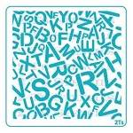 Alphabet Background Stencil
