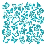 Butterflies Background Stencil