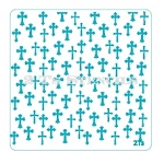 Crosses Background Stencil