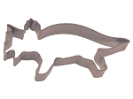 Triceratops steel cookie cutter